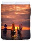 Sailing Yachts Duvet Cover
