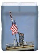 Sailors Lower The National Ensign Duvet Cover