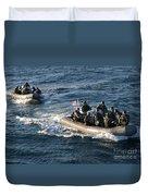 Sailors Participate In A Visit, Board Duvet Cover