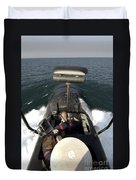 Sailors Stand Watch From The Bridge Duvet Cover