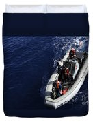 Sailors Stand Watch On A Rigid-hull Duvet Cover