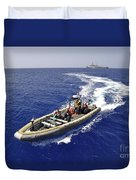 Sailors Transit An Inflatable Boat Duvet Cover