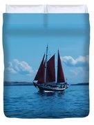 Sails Off The San Juans Duvet Cover