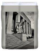 Saint Louis Soldiers Memorial Exterior Black And White Duvet Cover