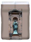 Saint Peter Statue - Historic Philadelphia Basilica Duvet Cover