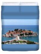 Saint Stephen In Montenegro Duvet Cover