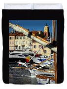 Saint Tropez Harbor Duvet Cover