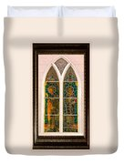 Saints In The Window Duvet Cover