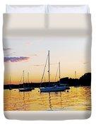 Salem Harbor Amber Sunset Duvet Cover