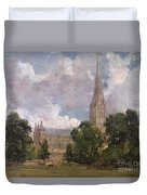 Salisbury Cathedral From The South West Duvet Cover