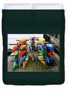 Salma Kayaks Duvet Cover