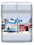 Salt Water Taffy Panorama Balboa California Duvet Cover