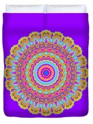 Saltwater Taffy Mandala Duvet Cover
