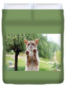 Salute Cat Duvet Cover