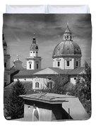 Salzburg Black And White Austria Europe Duvet Cover