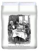 Samuel Clemens Cartoon Duvet Cover