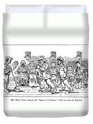 Samuel L. Clemens Cartoon Duvet Cover