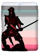 Samurai Sunrise Duvet Cover
