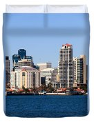 San Diego Buildings Photo Duvet Cover by Paul Velgos