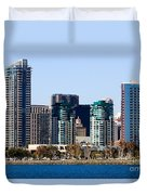 San Diego California Skyline Duvet Cover