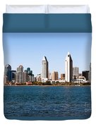 San Diego City Skyline Duvet Cover