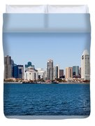 San Diego Skyline Buildings Duvet Cover