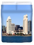 San Diego Skyscrapers Duvet Cover