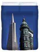 San Francisco Buildings Duvet Cover
