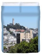 San Francisco Coit Tower Duvet Cover