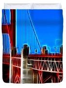 San Francisco Golden Gate Bridge Electrified Duvet Cover