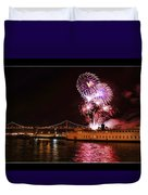 San Francisco New Years Eve Duvet Cover