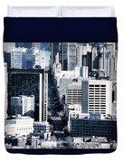 San Francisco Skyline-grunge Duvet Cover