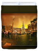 San Francisco Union Square Xmas Duvet Cover