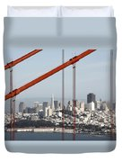 San Francisco Through The Cables Duvet Cover