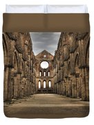 San Galgano  - A Ruin Of An Old Monastery With No Roof Duvet Cover