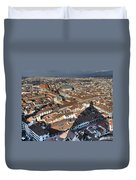 San Lorenzo And Duomo Shadow Florence Duvet Cover