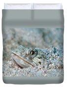 Sand Diver Hiding Below Sand Duvet Cover