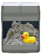 Sand Pile And Ducky Duvet Cover