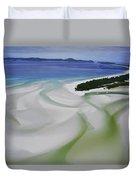 Sandbars Create An Interesting Pattern Duvet Cover
