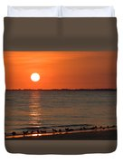 Sandpipers At Sundown Duvet Cover