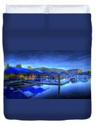 Sandpoint Marina And Power House 1 Duvet Cover