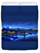 Sandpoint Marina And Power House 3 Duvet Cover