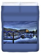 Sandpoint Marina And Power House Duvet Cover