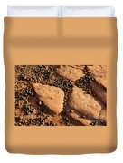 Sandstone And Pebbles Duvet Cover by Gary Whitton