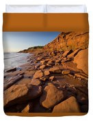 Sandstone Cliffs, Cape Turner, Prince Duvet Cover by John Sylvester