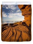 Sandstone Cliffs, Cavendish, Prince Duvet Cover
