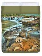 Sandstone Falls In The New River Duvet Cover
