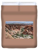 Sandstone Fins Of Arches National Park Duvet Cover