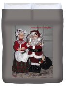 Santa Couple Duvet Cover