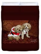 Santa Puppies Duvet Cover